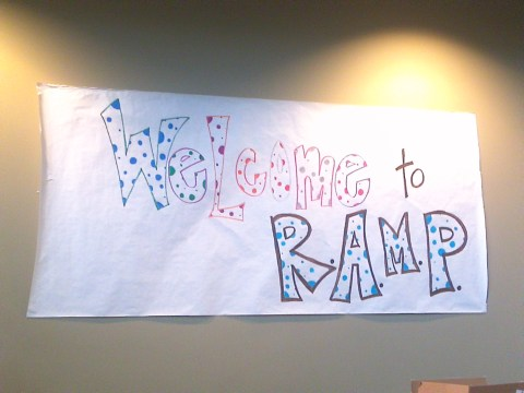 YouthWorks: Welcome to RAMP sign