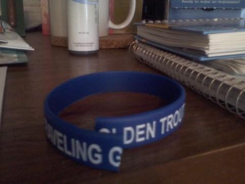 Identity: Traveling Golden Trout snapped bracelet