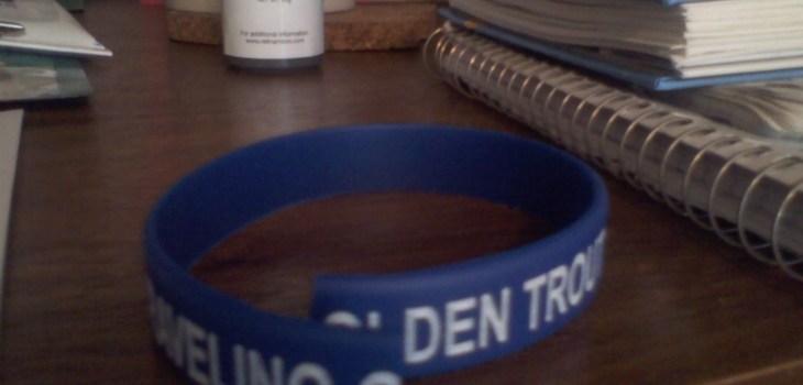 Identity: Traveling Golden Trout Bracelet snapped