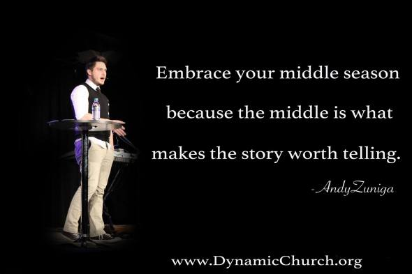 """Embrace your middle"" by Andy Zuniga"
