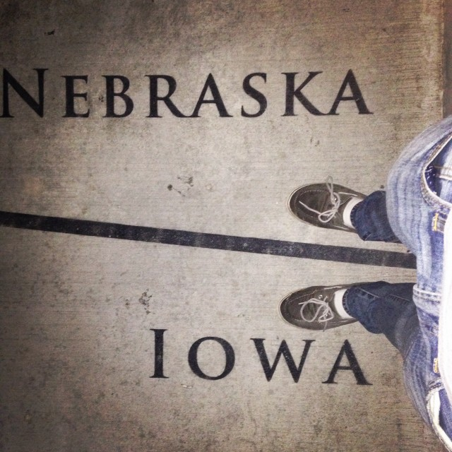 #RunningTo: Iowa/Nebraska Line