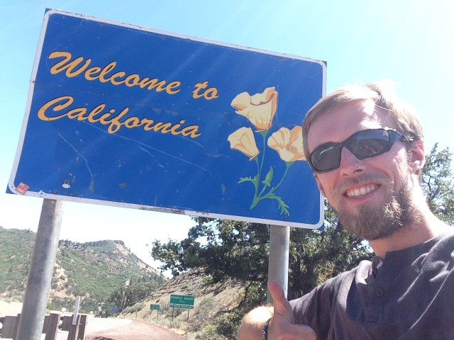 #RunningTo: CALIFORNIA sign
