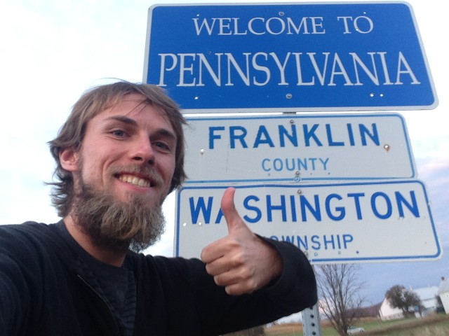 #RunningTo: PENNSYLVANIA sign