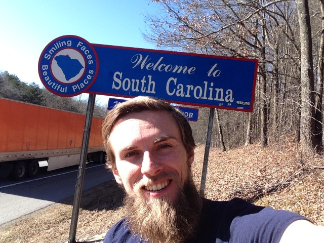 #RunningTo: SOUTH CAROLINA sign