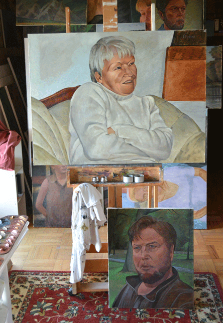 On the easel 11/3/2013