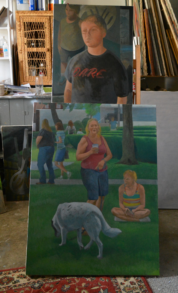 """Unfinished paintings: 'Dare,' and """"Victory Park I'"""