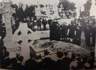 Scene at graveside