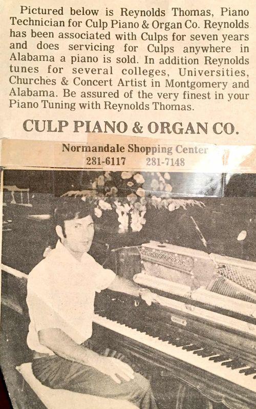 Culp Piano Thank You Montgomery AL Thomas Piano
