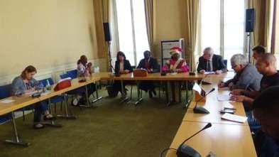 La rencontre avec les députés au sein de l'Assemblée nationale (photo Proposer Vokouma)