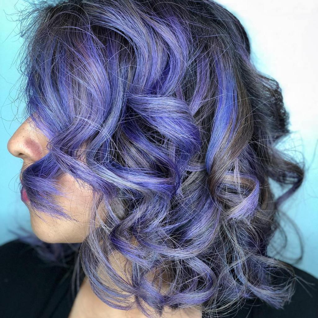 Thomas Shelton's Young Client with Gray Purple Hair
