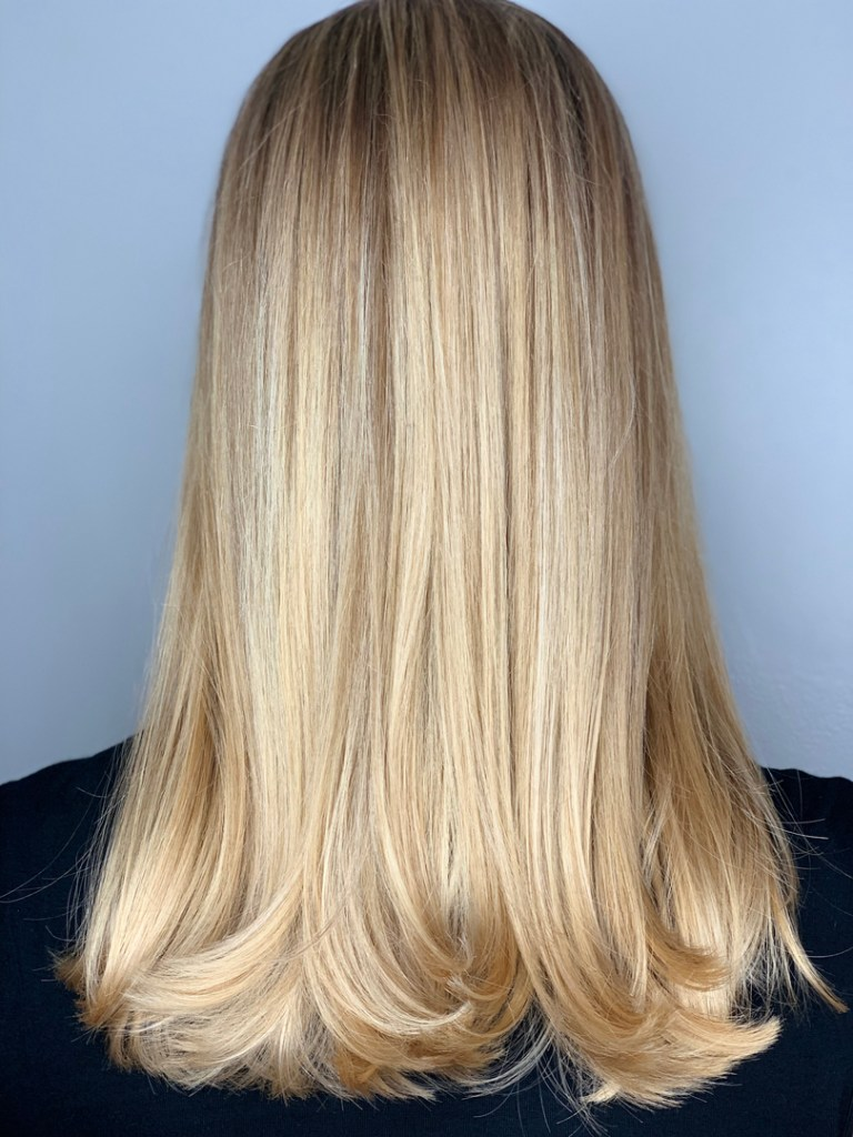 Thomas Shelton's Client With Bright Blond Hair