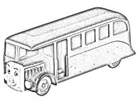 Bertie the bus coloring pages free to download and color