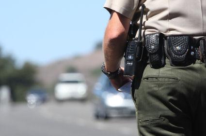 back of police