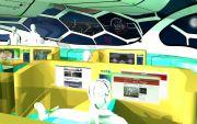 A l'intérieur de la classe pilote Une grande verrière permettra une vue incroyable en plein vol.