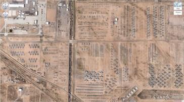 Le cimetière d'avions (32 08'59.96″ N, 110 50'09.03″W), Tucson, Arizona