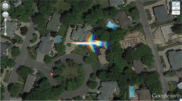 L'avion arc-en-ciel, Cathy Terrasse Englewood Cliffs, New Jersey, États-Unis