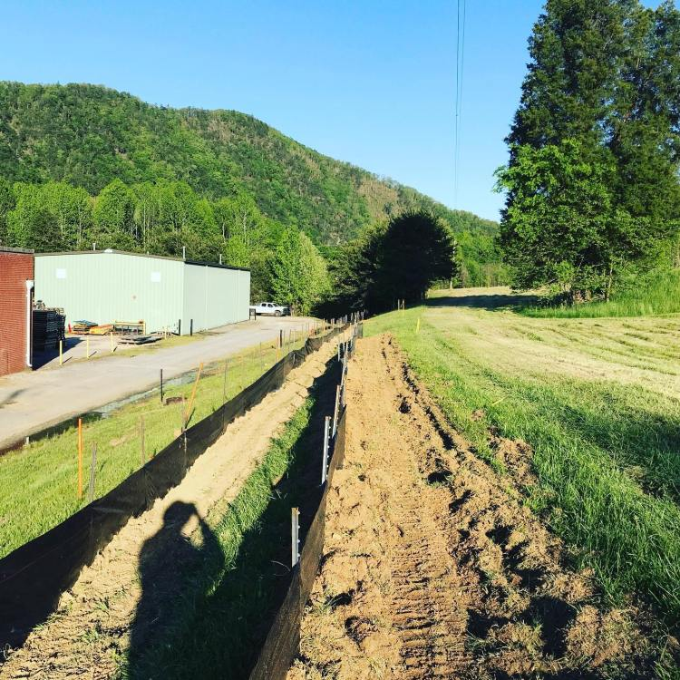 Erosion control devices such as silt fence, silt wattles, rock check dams, and compost filter sock are no problem for us!