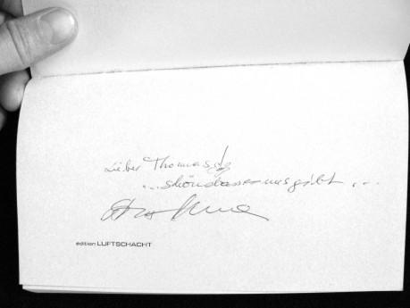... signiert von Maria Edelsbrunner