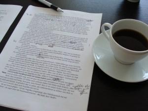 Seite 93 der 7. Romanfassung mit Kaffee und Tippfehlern
