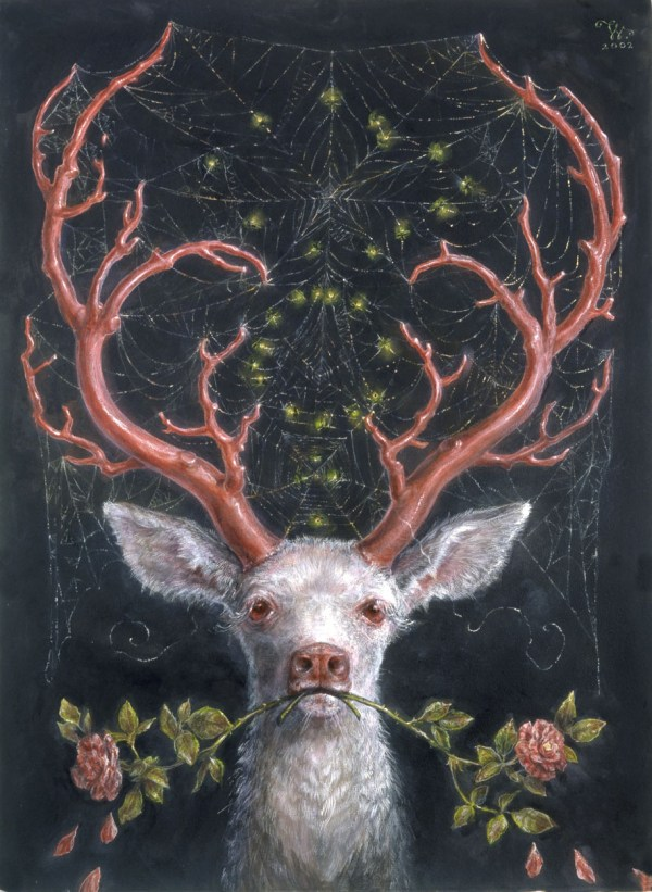 White Stag Painting