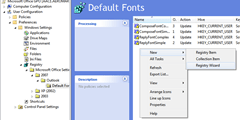 Standardising Outlook Fonts using Group Policy Preferences (2/5)