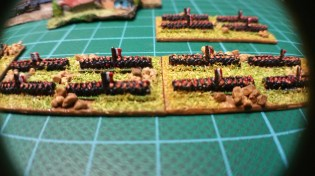 The Frencyh Infantry ready to advance