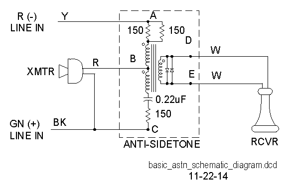 Addition Of Antisidetone Circuit To Vintage Telephones