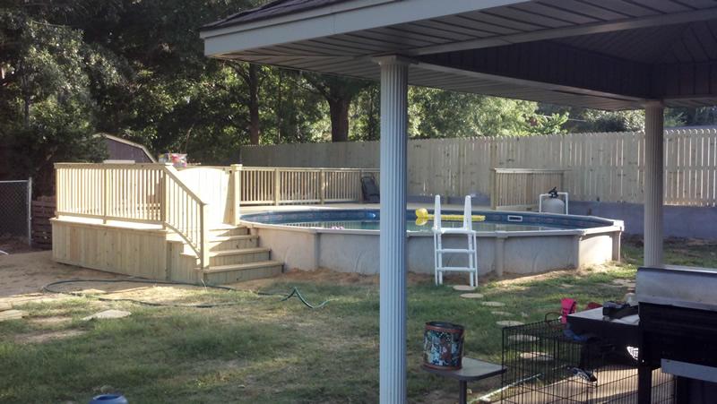 Above Wood Decks Pool Ground