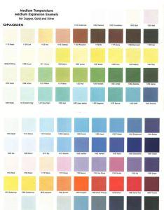 Color charts also thompson enamel colfax ave bellevue ky rh thompsonenamel