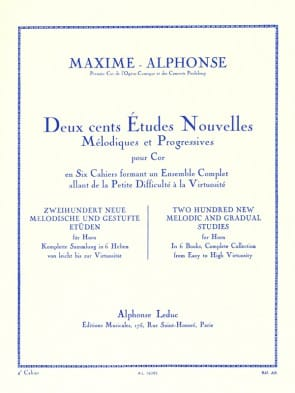 Alphonse / Maxime -- 200 New Melodic and Gradual Studies for Horn, Book 4