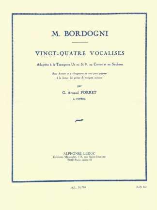 Bordogni/Porret -- 24 Vocalises adapted for Trumpet