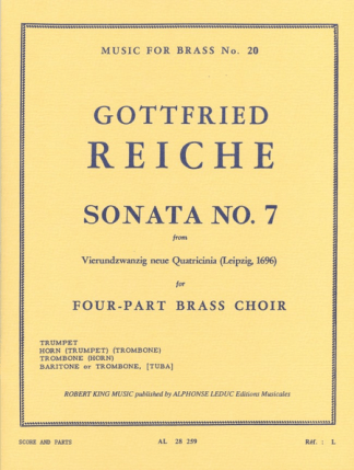 Reiche -- Sonata #7 for Brass Quartet