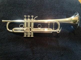 Larson silver Bb trumpet