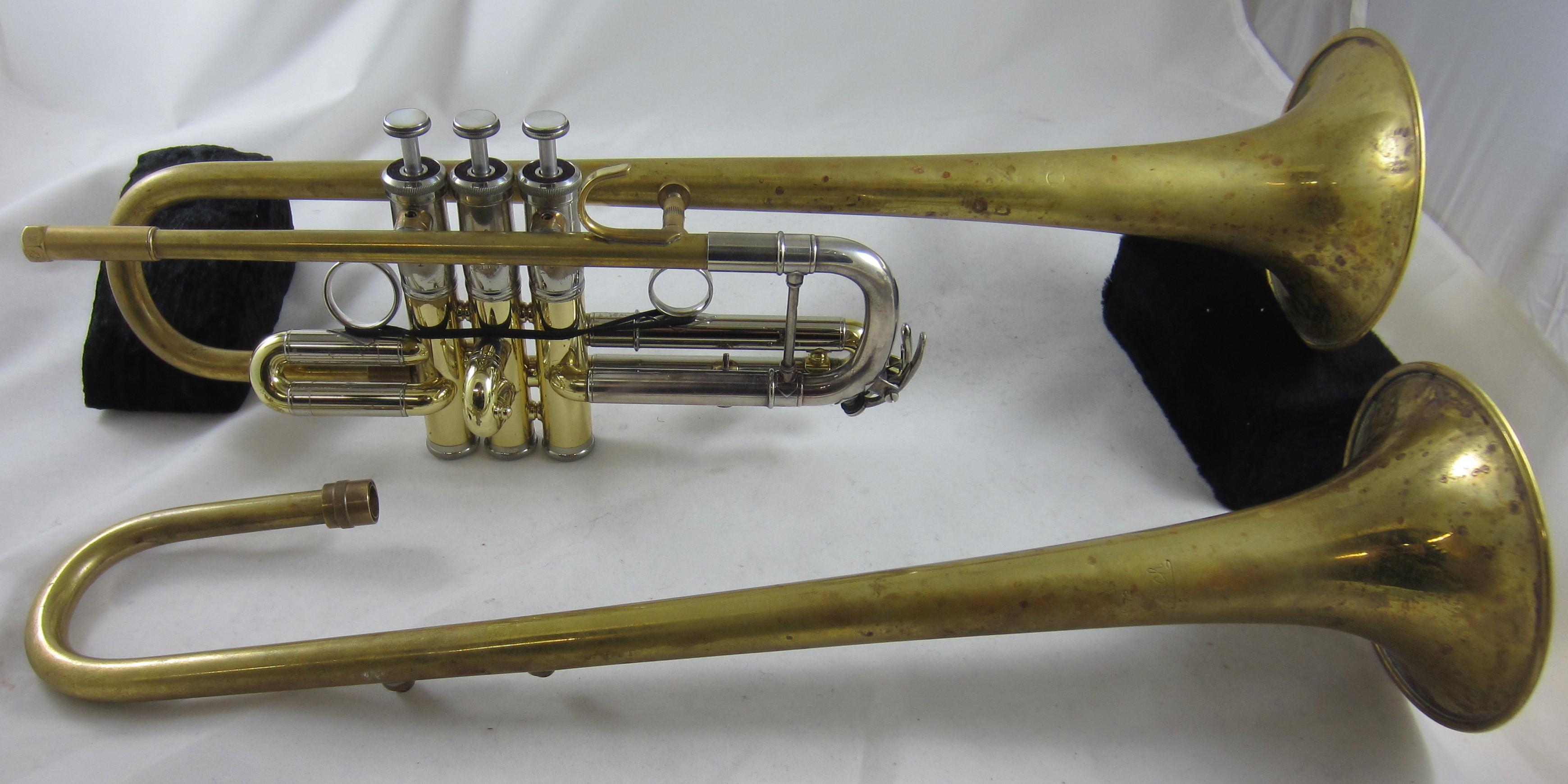 Used Spencer Modular C Trumpet SN 001050