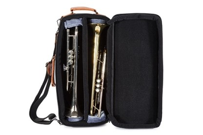 4-ECSK GARD Elite Compact Double Trumpet Gig Bag Synthetic with Leather Trim