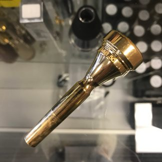 Used Denis Wick MM 1.5C Trumpet Mouthpiece in Gold Plate