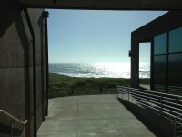 Ocean view outside the lecture hall