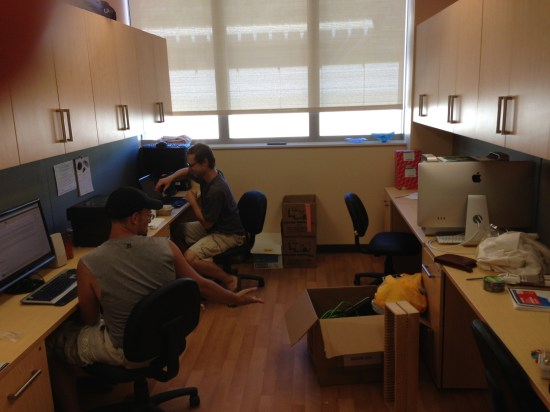 Grad student office space (still moving in!)