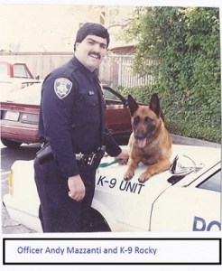 Officer Andy Mazzanti and K-9 Rocky