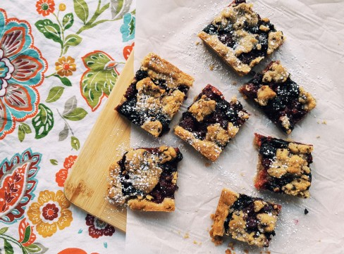 Berry and Walnut Crumble Slice