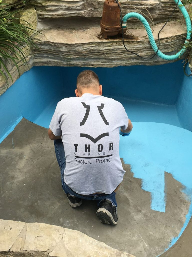 Thor & Partners . Residential . Restoration Work in Swimming Pool