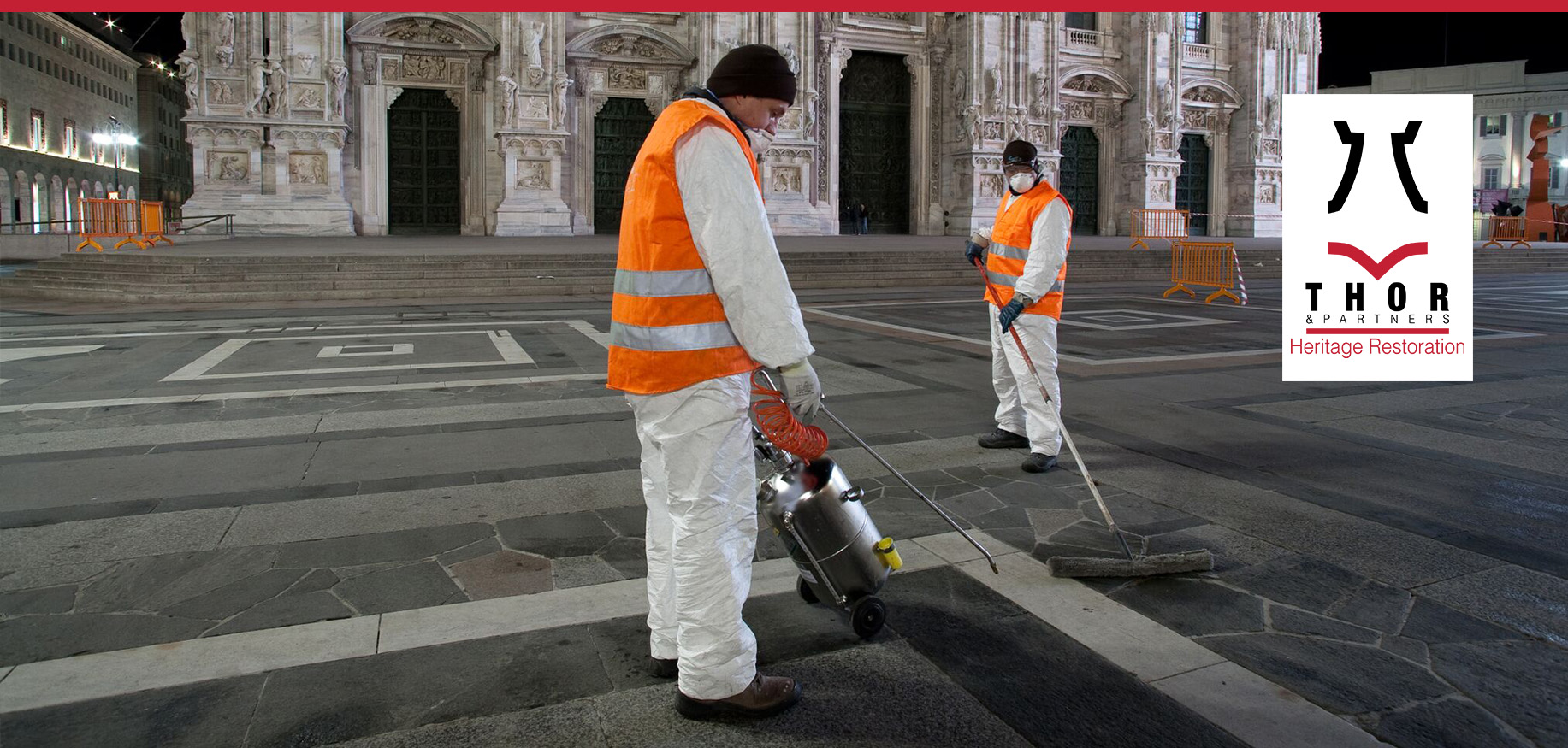 Thor & Partners . Heritage . milan cathedral restoration and cleaning work