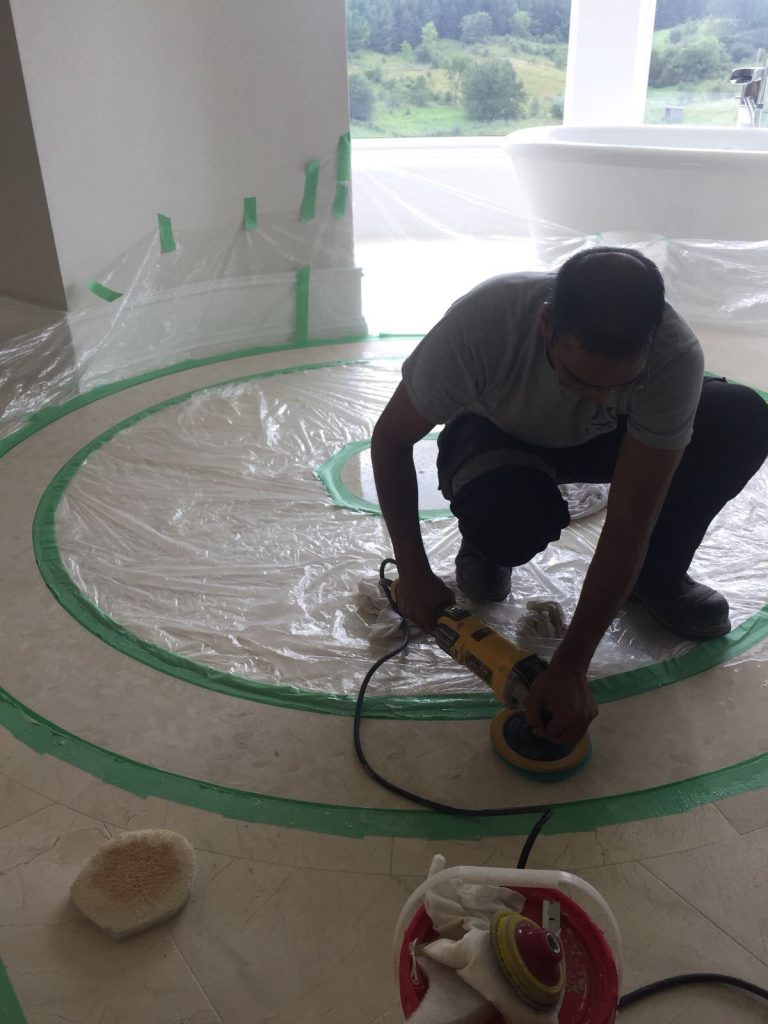 Thor & Partners . Residential . restoration work on a Marble floor