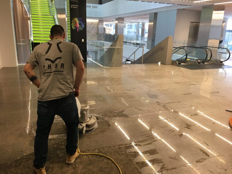 Thor & Partners restoration work on a floor of a mall