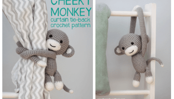 Amigurumi Frog curtain Tie Back Free Crochet Pattern - Cool Creativities | 200x350