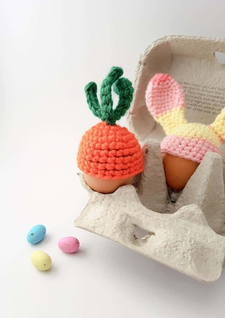Carrot top egg cosy