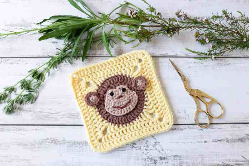 Crochet monkey square