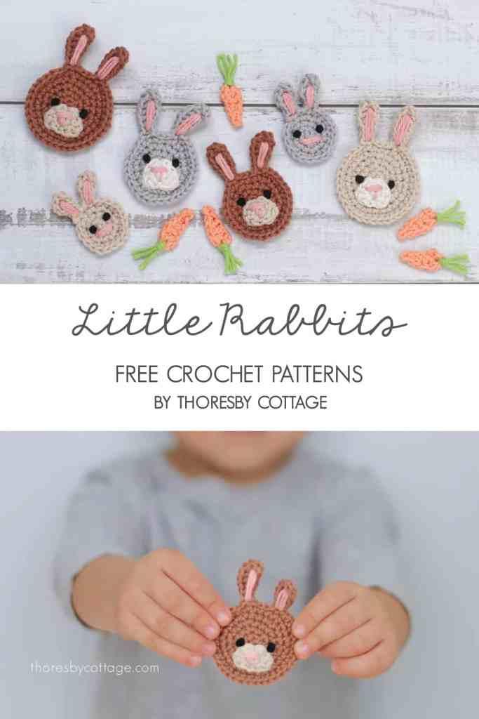 bunny applique crochet pattern