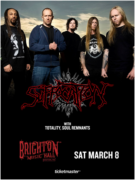 Incoming: Suffocation @ Brighton Music Hall (Boston)