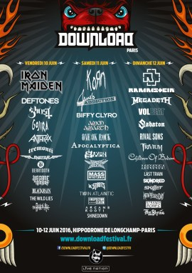 Incoming : Download Festival @ Paris (France)